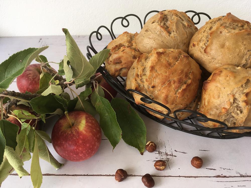 Veganske koldhævede æbleboller