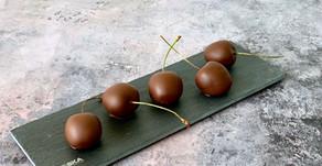 Kirsebær med mørk chokoladeovertræk
