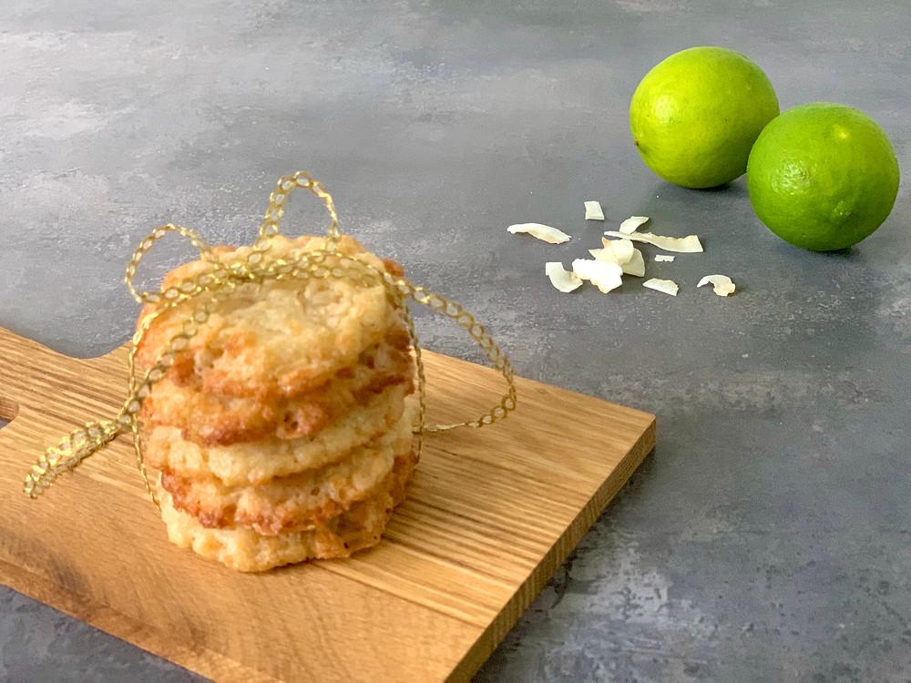 Veganske kokossmåkager med lime