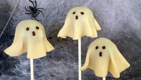 Spøgelsespopcakes