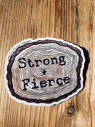 """""""Strong+Fierce"""" Tree Ring Sticker"""