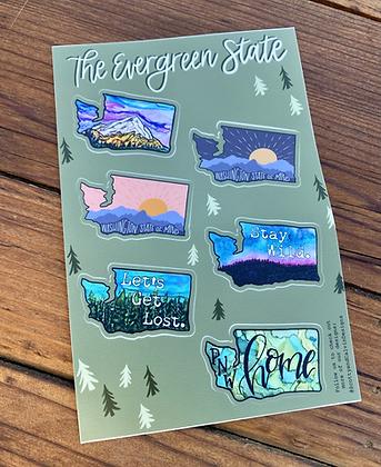 WA State Sticker Sheet