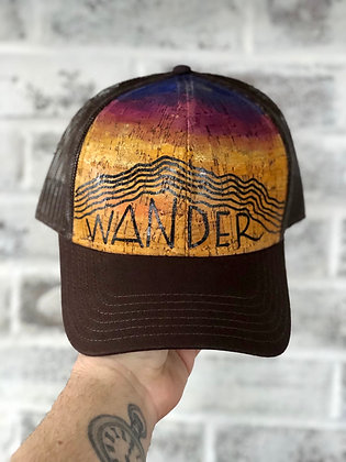 Hand-Painted Cork Hat- Wander