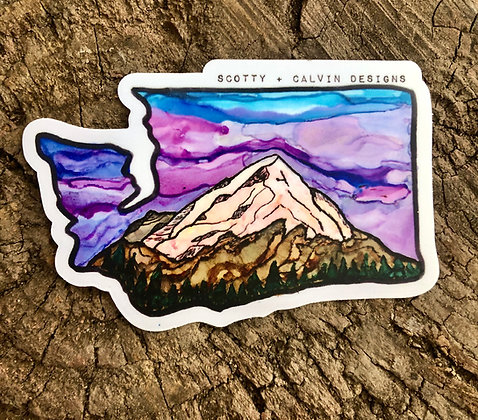 WA MTN Sticker-Small 3x2""