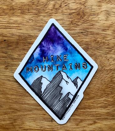 Hike Mountains Diamond Sticker