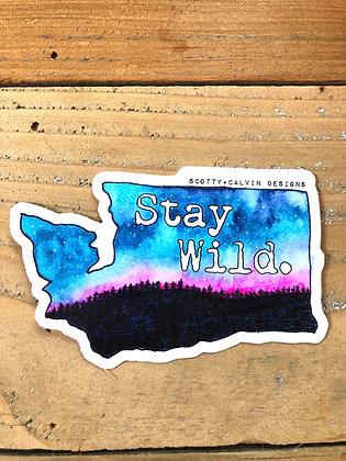 """WA State""""Stay Wild"""" -Large"""
