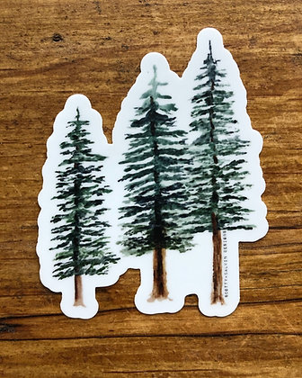 Watercolor Pine Trees Sticker