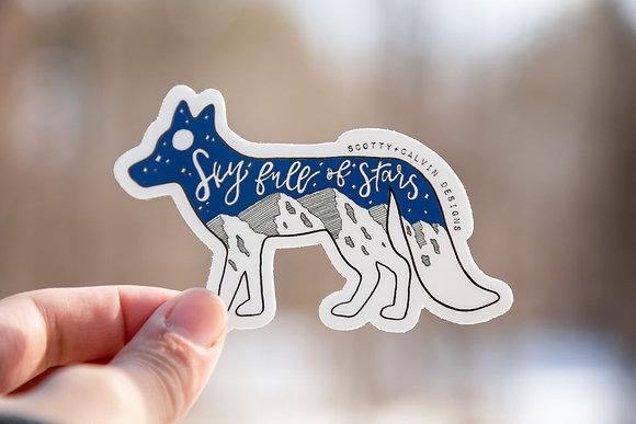 """Fox """"Sky Full is Stars"""" Sticker"""