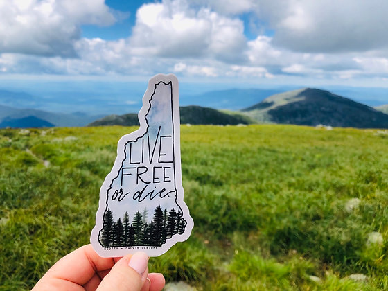 """Live Free or Die Sticker-Large 3x5"""""""