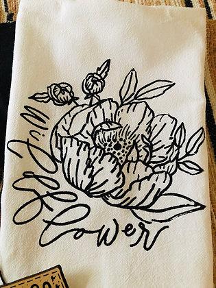 Wildflower Tea Towel
