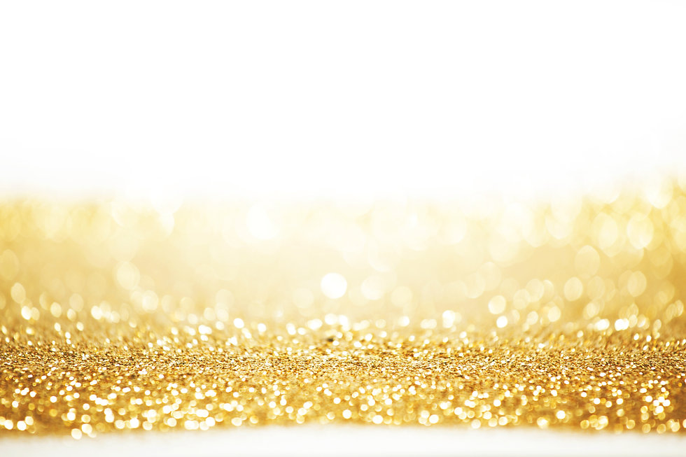 Abstract gold background with white copy