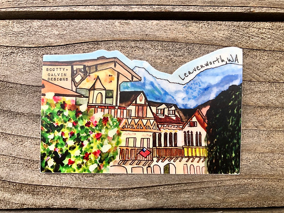 Leavenworth Sticker