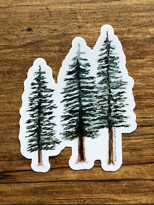 Wholesale Watercolor Pine Trees