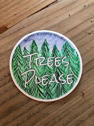 """Trees Please 2.5x2.5"""""""