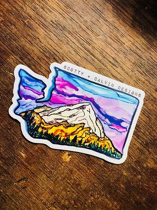WA State Mtn Sticker