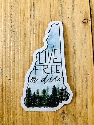 Live Free or Die Sticker-Large