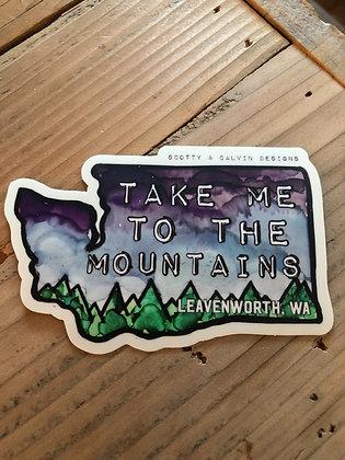 "Take Me to the Mountains-Large 4x2.65"""