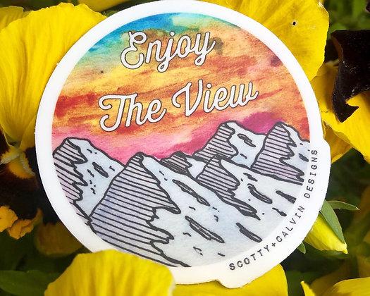 "Enjoy the View 2x2"" Circle Sticker"