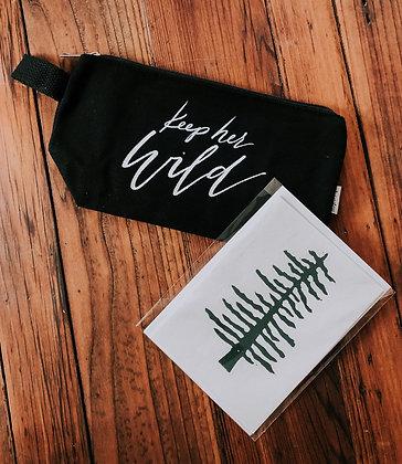 "Multi-Purpose Canvas Bag ""Keep Her Wild"""