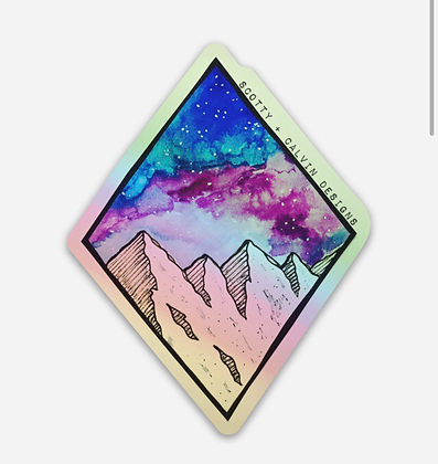 """Holographic MTN Galaxy-Small 2.32x3"""""""