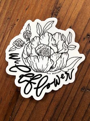 B+W Wildflower