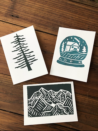 Hand- Stamped Holiday Cards