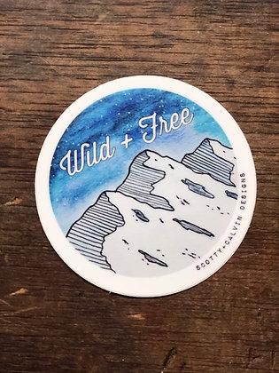 Wild + Free Sticker