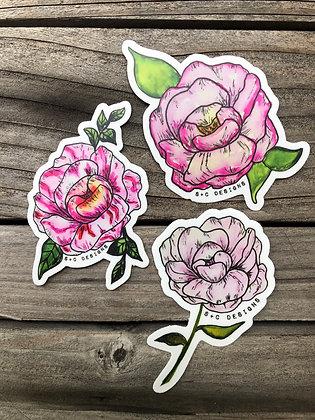 Peony Pack (3 Stickers)