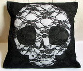 Pullip skull hand made cushion