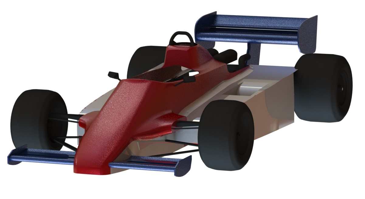 formula one race car 3d scanned reverse