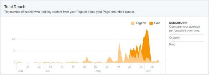 FB Page results after 4 weeks