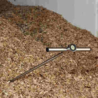 Temperature Probe in Wood Chips