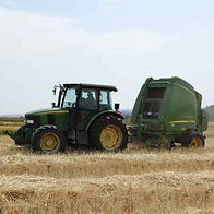 Baling Hay with Round Balers