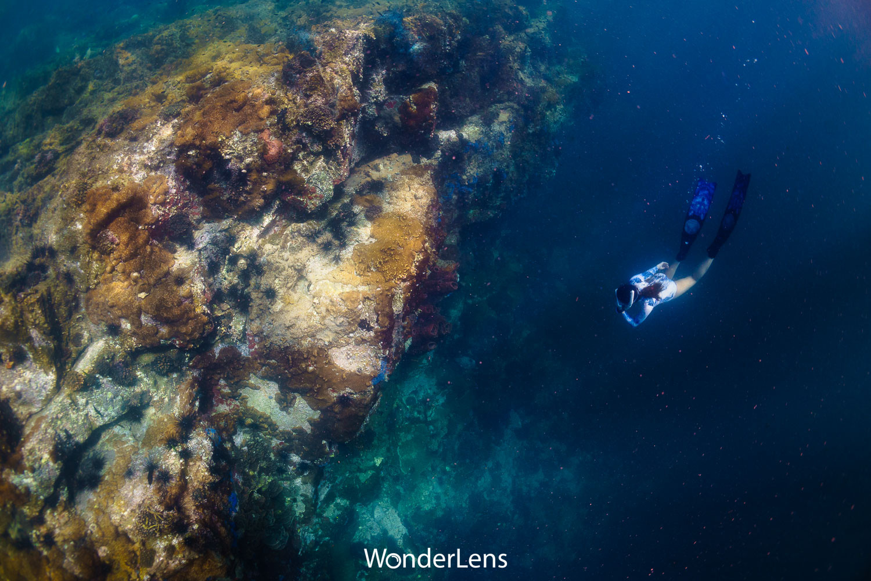 เนื่องจากระดับน้ำที่ลึก และอาจมีคลื่นลมและกระแสน้ำรุนแรง การดำน้ำที่เกาะสันฉลามจึงเหมาะสำหรับผู้ที่มีประสบการณ์