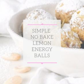 No Bake Lemon Balls (GF, DF)