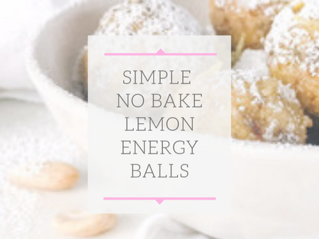 No Bake Lemon Balls (GF, DF)