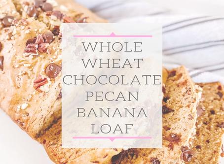 Chocolate Pecan Banana Loaf