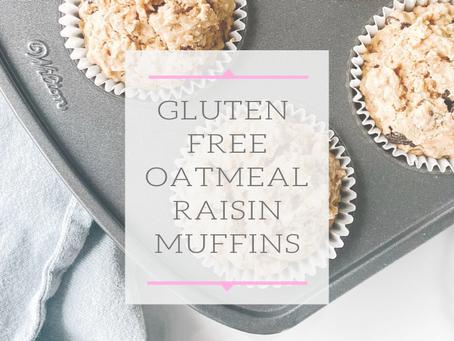 Gluten Free Oatmeal Raisin Muffins
