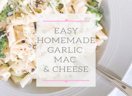 Homemade Garlic Mac & Cheese