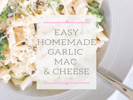 Homemade Garlic Mac & Cheese
