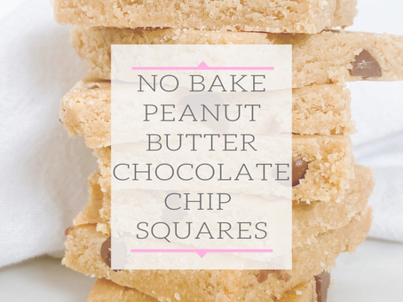 No Bake Peanut Butter Chocolate Chip Squares