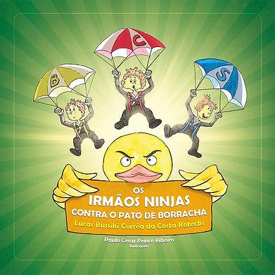 Os-irmaos-ninjas-contra-o-pato-de-borrac