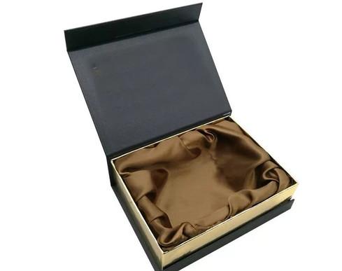Luxury Flap open Rigid Box with Satin Interior from Rigid Box manufacturer in Sivakasi