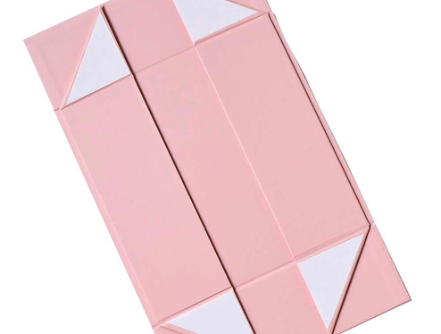 Collapsible fold flat rigid paper gift boxes with stickers from Indian Rigid box supplier