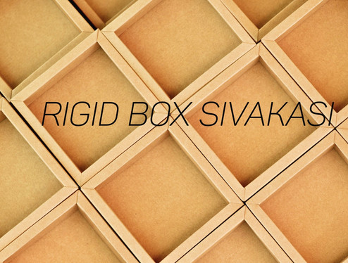 Eco friendly Recycled Rigid Paper Boxes from Sivakasi Rigid Box manufacturer