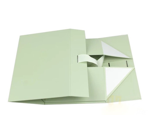 Rigid Box flat collapsible with stickers for full size