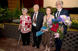 Писателят Мартен Калеев-награждаване