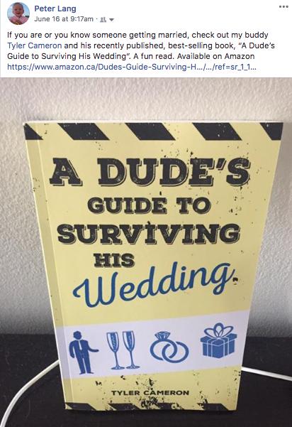Blog | A Dude's Guide to Surviving His Wedding | Tyler Cameron, Author