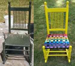 belt chair yellow