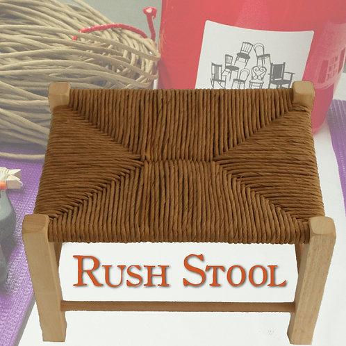 Fiber Rush Stool Kit